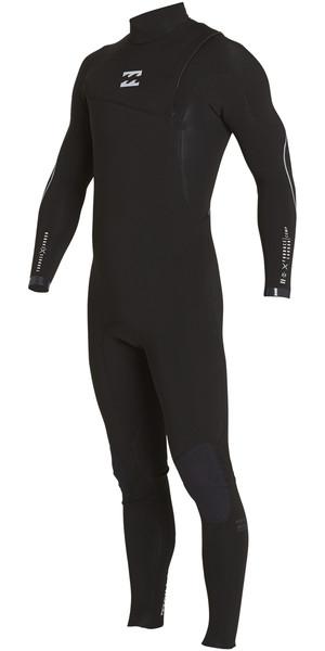2018 Billabong Furnace Comp 5/4mm Zip Free Wetsuit BLACK F45M15