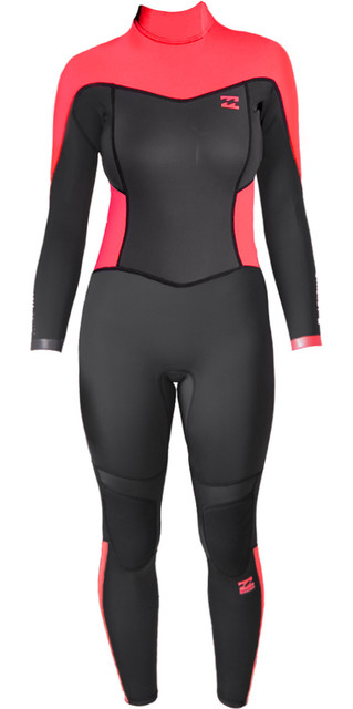 a692572d04 2017 Billabong Ladies Synergy 3 2mm Back Zip Flatlock Wetsuit Coral Kiss  C43G01. £87.50