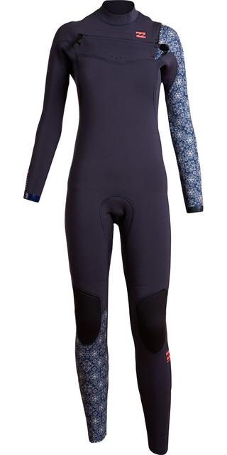 Billabong Womens Furnace Comp 3/2mm Chest Zip Wetsuit - Blue Z43g01 Picture