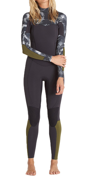 2018 Billabong Womens Salty Dayz 3/2mm Chest Zip Wetsuit - BLACK SANDS C43G03