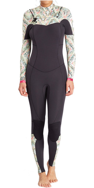 2018 Billabong Womens Salty Dayz 4/3mm Chest Zip Wetsuit ALOE F44G16
