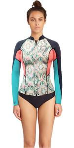 Billabong Womens Surf Capsule 1mm Peeky Wetsuit Jacket ALOE C41G07