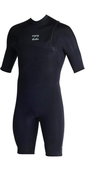 Billabong Pro Series 2mm Zipperless Shorty Wetsuit BLACK C42M03