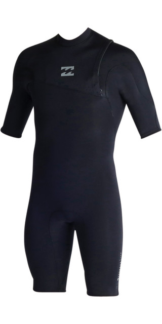 Billabong Pro Series 2mm Zipperless Shorty Wetsuit Black C42m03 Picture