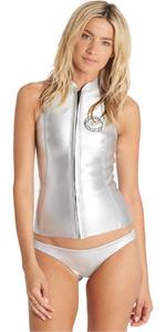Billabong Womens Salty Dayz 1mm Neoprene Vest METALLIC SILVER C41G05