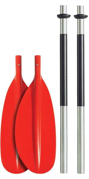 Bravo KWB 230cm 4 PIECE ALU PADDLE - CURVED BLADE - RED
