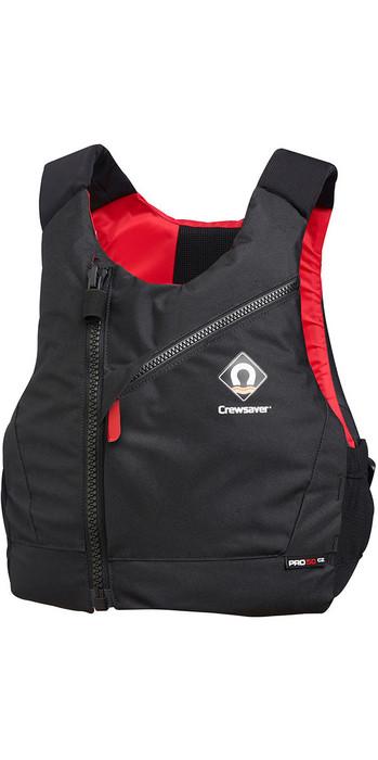 2020 Crewsaver Junior Pro 50N Chest Zip Buoyancy Aid Black / Red 2630J