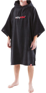 2018 Dryrobe Short Sleeve Towel Change Robe / Poncho - LARGE in Black