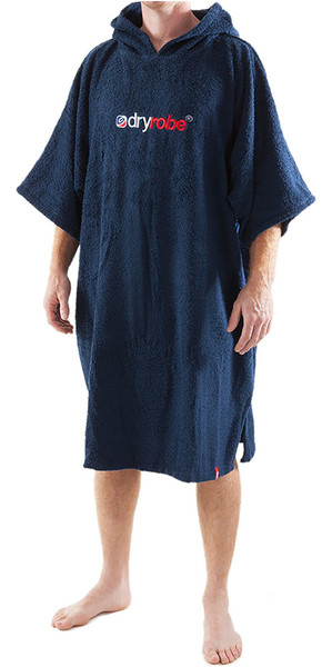 2019 Dryrobe Short Sleeve Towel Change Robe / Poncho - MEDIUM in Navy