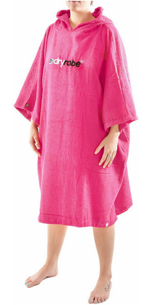 2018 Dryrobe Short Sleeve Towel Change Robe / Poncho - LARGE in Pink