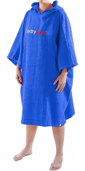 2018 Dryrobe Short Sleeve Towel Change Robe / Poncho - Large in Royal Blue