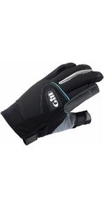 2019 Gill Womens Championship Long Finger Sailing Gloves Black 7262