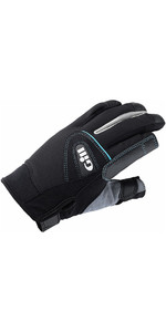 2019 Gill Womens Championship Long Finger Sailing Gloves Black 7262