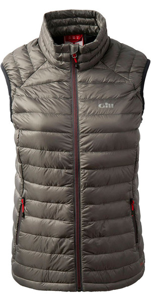 2018 Gill Ladies Hydrophobe Down Gilet Pewter 1063W