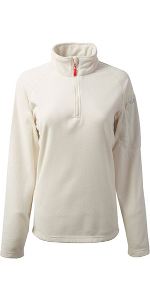 2018 Gill Womens Thermogrid Zip Neck Fleece Oatmeal 1370W