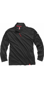 Gill Men's UV Tec Zip Neck Top in Charcoal UV003