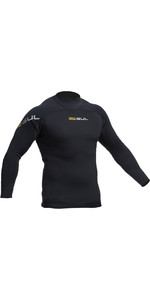 2019 Gul Junior Code Zero 3mm Long Sleeve Thermo Top BLACK AC0116-B2
