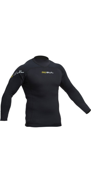 2019 Gul Code Zero 3mm Long Sleeve Thermo Top BLACK AC0067-B2