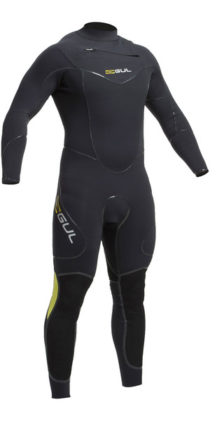 2019 Gul Code Zero 4/3mm Chest Zip - Relief System Sailing Wetsuit BLACK CZ1203-B2
