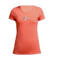 Gul Womens Tee Fit Short Sleeve Rash Vest CORAL RG0367-B2