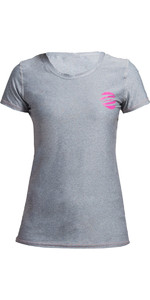 2019 Gul Womens Tee Fit Short Sleeve Rash Vest MARL RG0367-B2