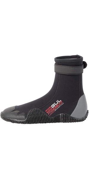 2018 Gul Power 5mm Round Toe wetsuit Boot Black / Grey BO1263