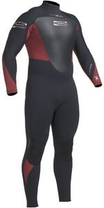 2019 Gul Response 5/3mm Back Zip GBS Wetsuit Black / CARDINAL RE1213-B1