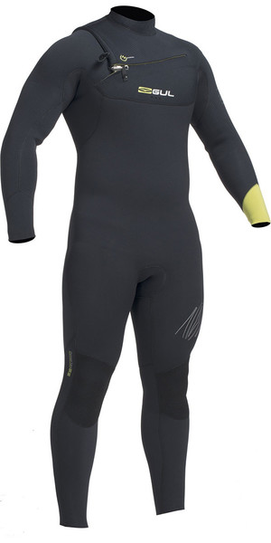 2019 Gul Response 5/4mm Chest Zip GBS Wetsuit Black / Lime RE1242-B1