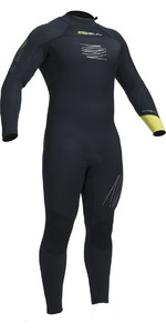 2019 Gul Response FX 5/4mm BS Back Zip Wetsuit Black / Lime RE1255-B1