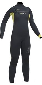 2019 Gul Response Junior 5/4mm Chest Zip Wetsuit BLACK / LIME RE1251-B1