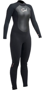 2019 Gul Response Womens 5/3mm GBS Back Zip Wetsuit Black RE1229-B1