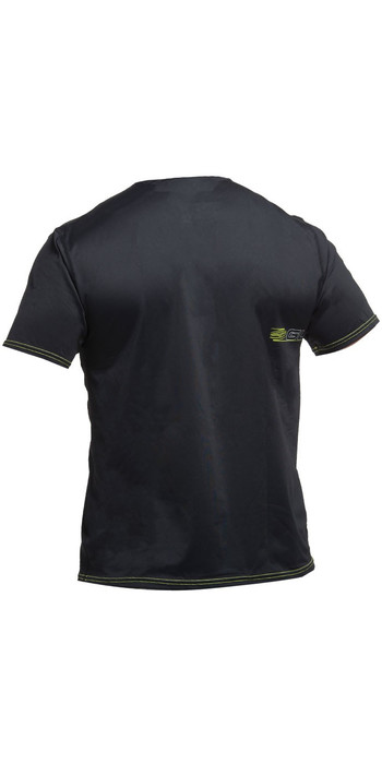 2019 Gul Tee Fit Short Sleeve Rash Vest BLACK RG0366-B2