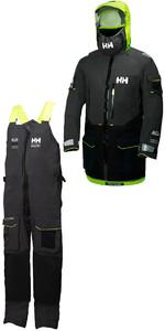 2019 Helly Hansen Aegir Ocean Jacket 30335 & Trouser 36269 Combi Set Ebony