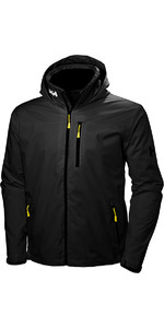 2020 Helly Hansen Crew Hooded Jacket Black 33875