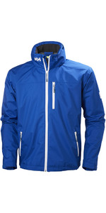 2019 Helly Hansen Crew Hooded Jacket Olympian Blue 33875