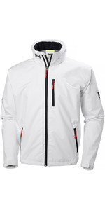 2019 Helly Hansen Crew Hooded Jacket White 33875