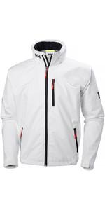 2019 Helly Hansen Crew Hooded Jacket White 33875
