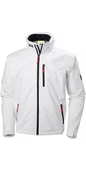 2018 Helly Hansen Crew Hooded Jacket White 33875