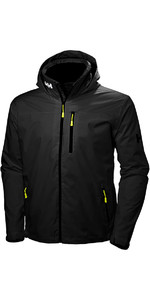 2019 Helly Hansen Hooded Crew Mid Layer Jacket Black 33874