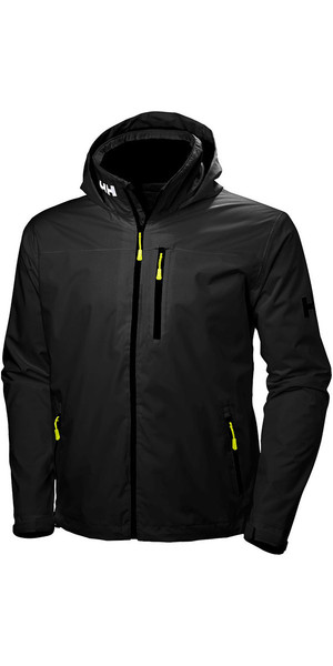 2018 Helly Hansen Hooded Crew Mid Layer Jacket Black 33874