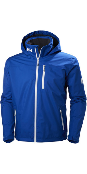 2018 Helly Hansen Hooded Crew Mid Layer Jacket Olympian Blue 33874