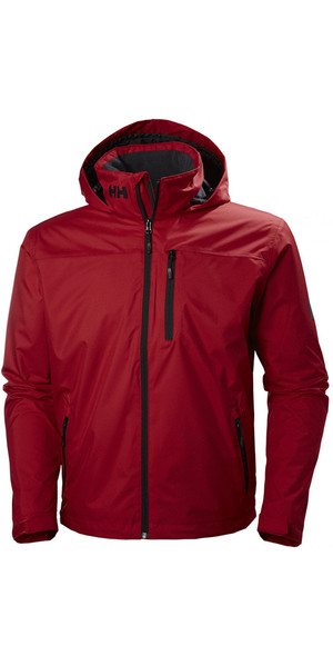 2018 Helly Hansen Hooded Crew Mid Layer Jacket Red 33874
