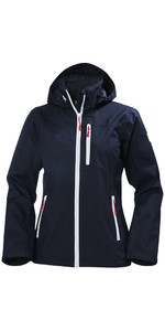 2019 Helly Hansen Womens Crew Hooded Jacket Navy 33899