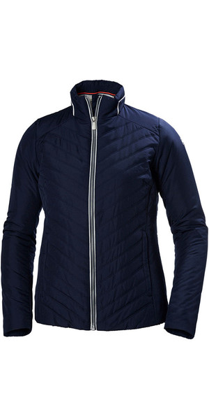 2018 Helly Hansen Womens Crew Insulator Jacket Evening Blue 53030