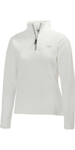 2021 Helly Hansen Womens Daybreaker 1/2 Zip Fleece WHITE / Silver 50845