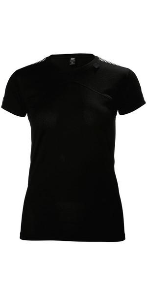 2018 Helly Hansen Ladies HH Lifa Base Layer T-Shirt Black 48330