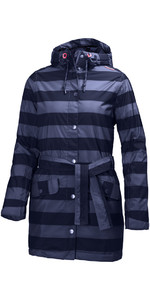 Helly Hansen Womens Lyness Insulated Coat Evening Blue Stripe 62462