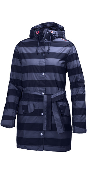 Helly Hansen Ladies Lyness Insulated Coat Evening Blue Stripe 62462