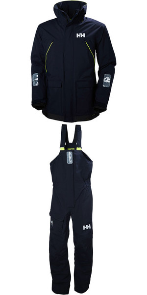 2018 Helly Hansen Pier Coastal Jacket 33872 & Trouser 33900 Combi Set in NAVY