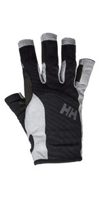 2020 Helly Hansen Short Finger Sailing Glove Black 67772
